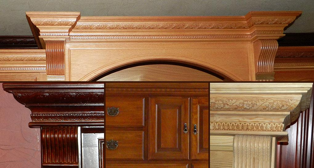 Molduras de madera para marco, cornisa, muebles - Molduras de Santiago